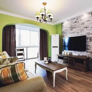 美式简洁客厅设计效果图