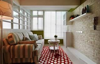 田园温馨客厅设计效果图