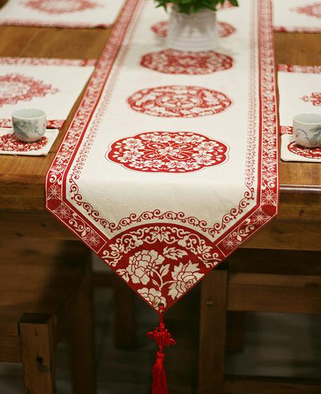 素雅中国风餐桌桌旗