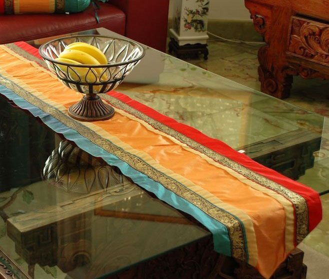 雅致中国风条纹餐桌桌旗