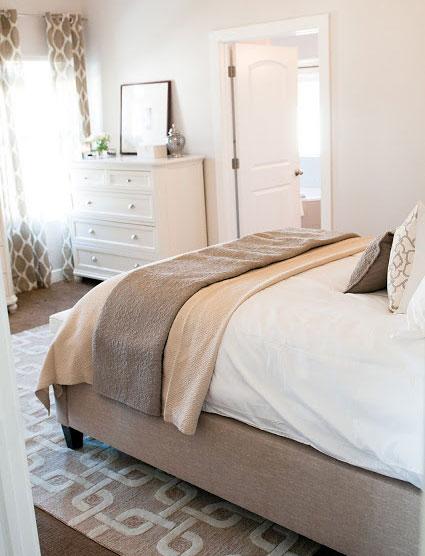 让人放松的中性色卧室设计