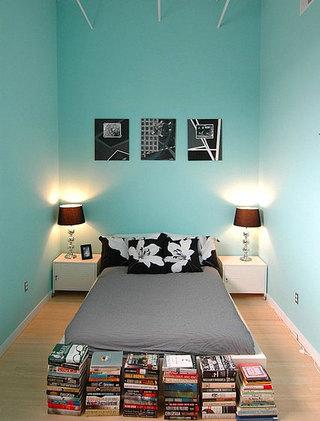 夏日清爽蓝绿色卧室