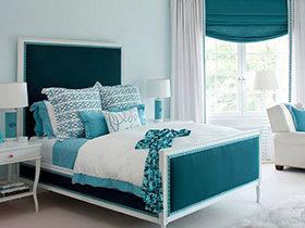 夏天睡个清凉觉 14个清爽蓝绿色卧室