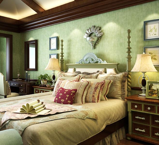 绿色复古卧室设计