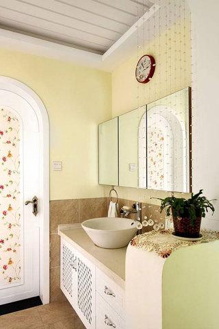 田园温馨洗手台设计图片