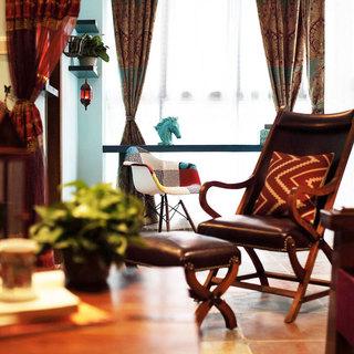 东南亚风格三居室60平米装修图片