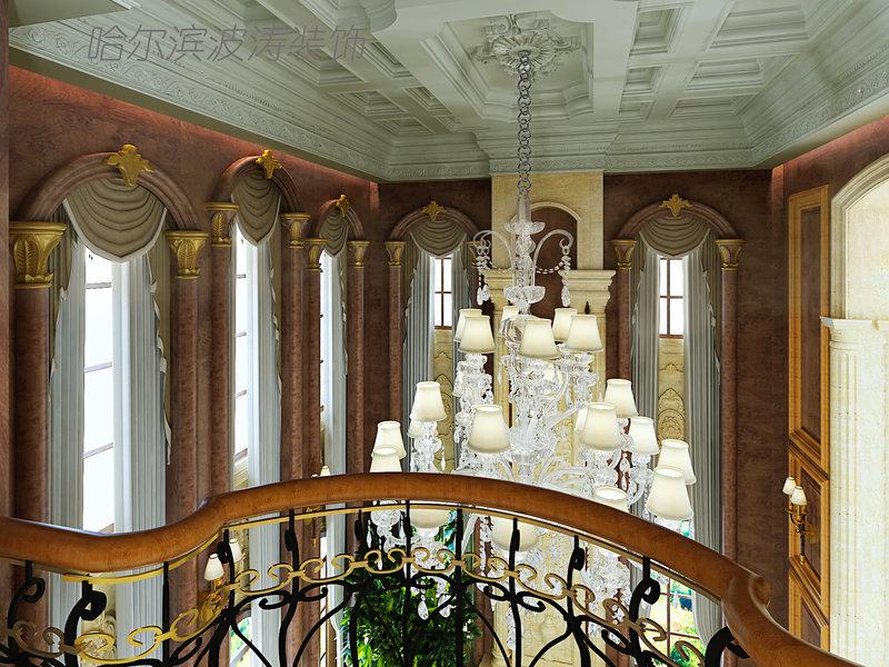 20万以上130平米欧式三居室装修效果图,简欧风格装修案例效果图 高清图片