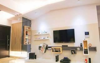 混搭清新电视背景墙设计效果图