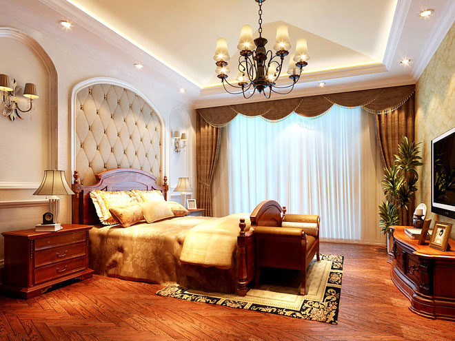 尊贵大气美式风格卧室设计
