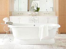 美式也有小清新 15个清新美式卫浴间设计