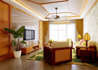 自然风情东南亚客厅设计