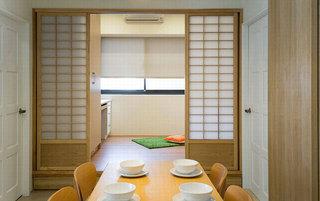 日式风格二居室温馨70平米效果图