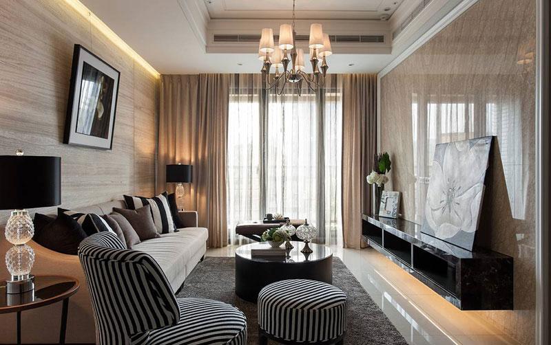 欧式古典客厅设计效果图