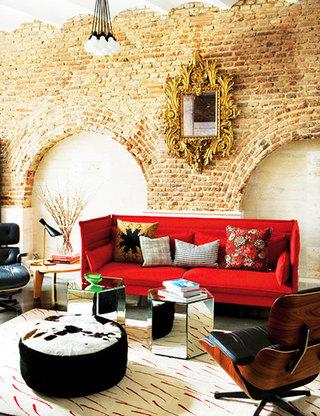 简约红色沙发