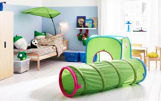 蓝绿色儿童房