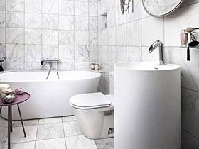 纯白诱惑 13个纯净白色卫浴间设计