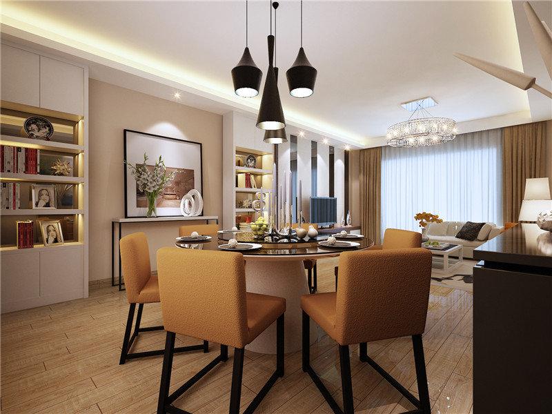 15 20万90平米简约三居室装修效果图,长水航城装修案例效果图 齐家高清图片