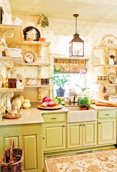绿色可爱风格厨房