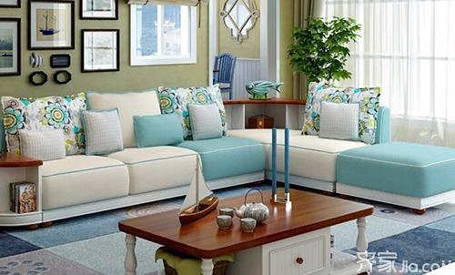 2017最新沙发款式4:地中海沙发布艺沙发组合实木沙发图片