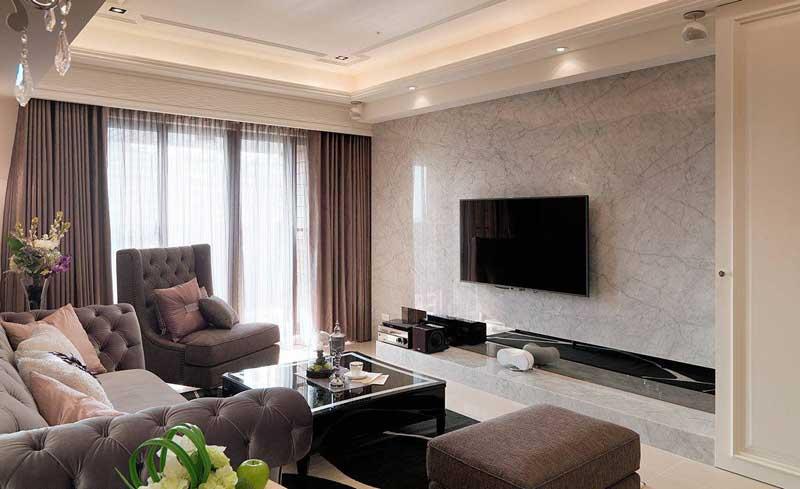 欧式简约电视背景墙设计图片