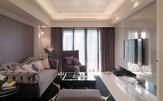 欧式简约客厅设计效果图