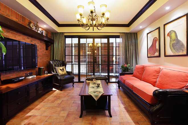 中式复古客厅设计效果图