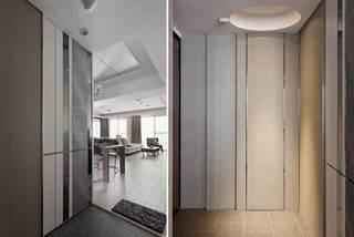 现代简约风格二居室温馨90平米设计图纸