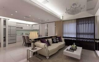 现代简约客厅隔断设计图片