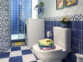 情迷蓝调地中海 10个蓝色地中海卫浴间