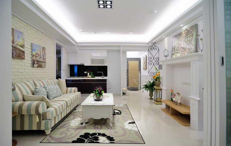 美式风格一居室50平米装修效果图