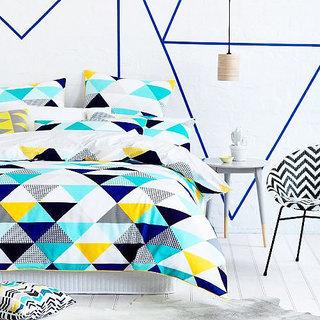蓝色系床上用品