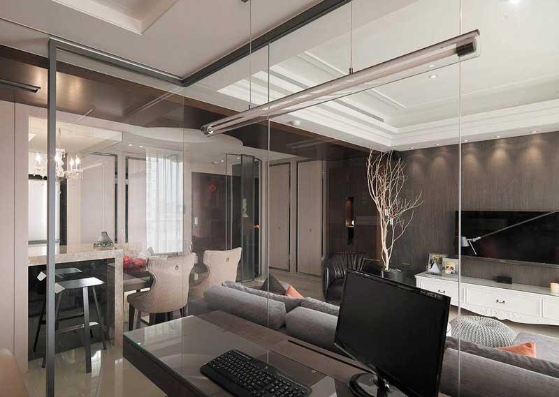 欧式风格三居室120平米装修效果图