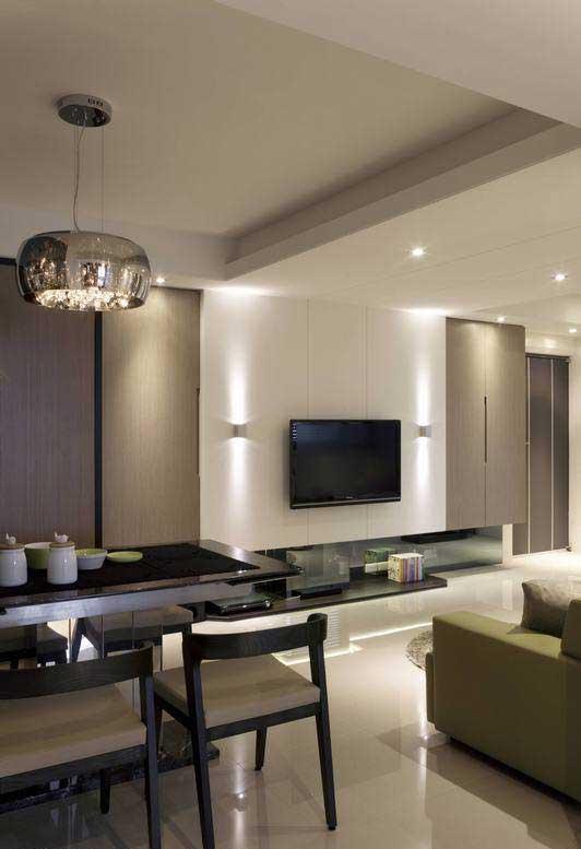 混搭电视背景墙设计图片