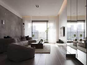 三房改一房 80平现代个性公寓