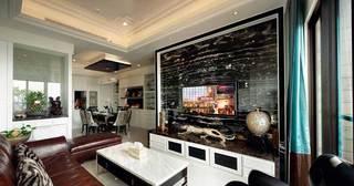 现代客厅电视背景墙设计图片