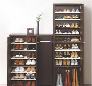 深色系实用鞋柜