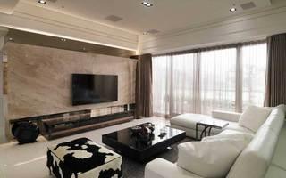 欧式清新电视背景墙设计图片
