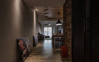 美式风格三居室80平米旧房改造家装图