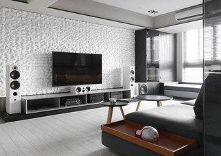 现代时尚电视背景墙设计图片