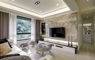 欧式电视背景墙设计图片