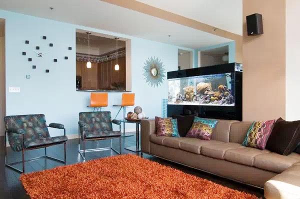 家庭室内鱼池子设计图展示图片