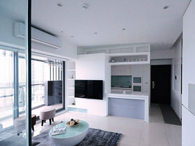 48平清爽简洁一居室公寓设计