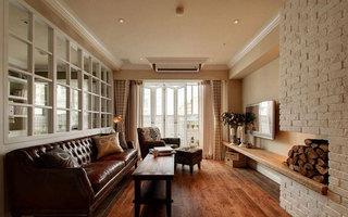 美式风格三居室70平米旧房改造平面图