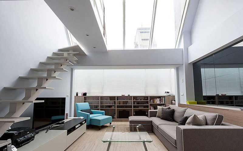 简约复式楼梯设计效果图