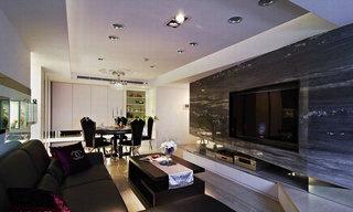 欧式风格三居室80平米效果图