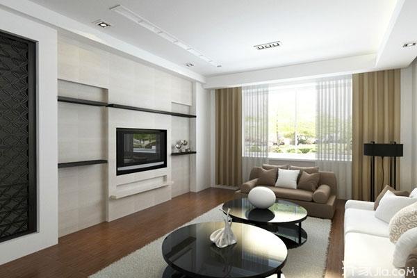 欧式隐形门电视背景墙 客厅电视背景墙的独特设计高清图片