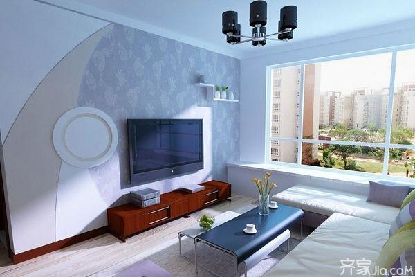 石膏线电视背景墙 最流行的客厅电视背景墙图片