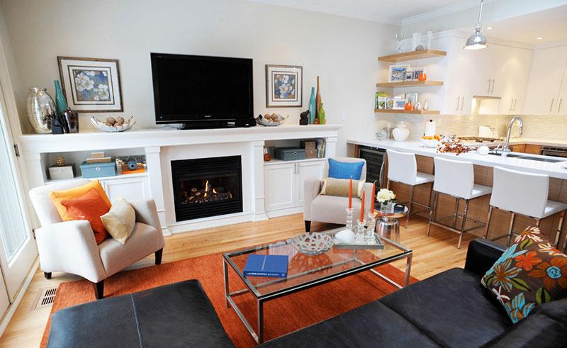 优雅欧式小客厅电视背景墙