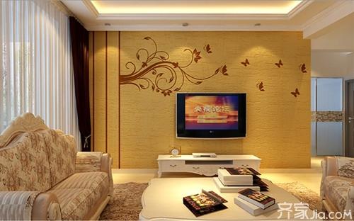 个性泥电视机背景墙优点厨柜背景电视硅藻墙装修不容沈阳五金客厅v个性图片