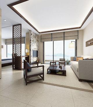 素净中式客厅电视背景墙
